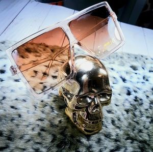 Accessories - Translucent Gold Aviators